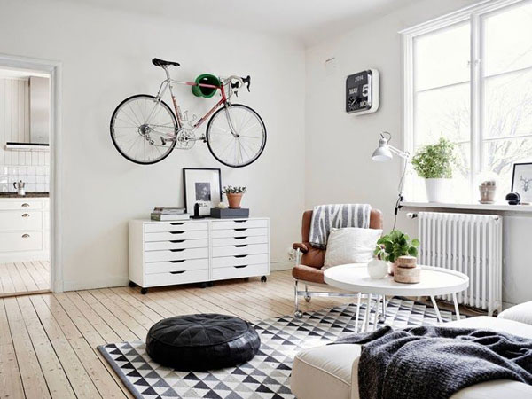 A clean bike in a clean house