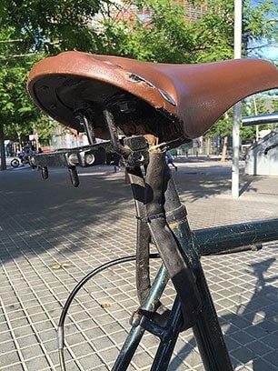 Bike chain seat lock