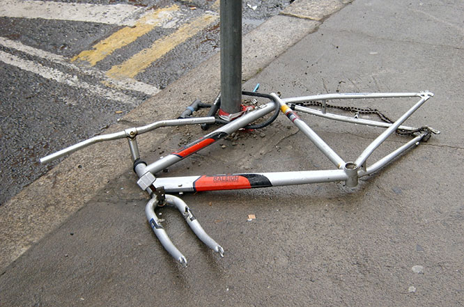 A stripped bike