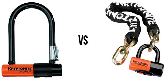 U Lock Vs Chain Lock Which Is Best The Best Bike Lock