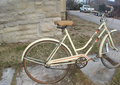 A typical beater bike