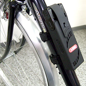 Abus Bordo attached to bike frame