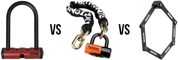 U-lock vs Chain lock vs Folding lock