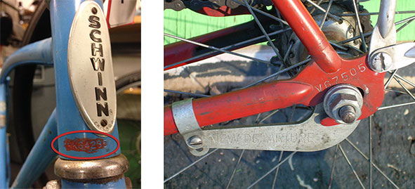 Bike serial numbers on head tube and rear drop out