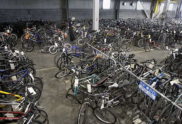 Police recovered bike store