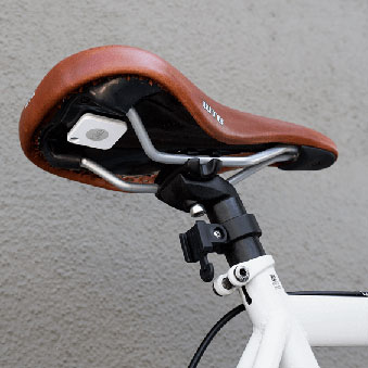 Tile tracker under bike seat