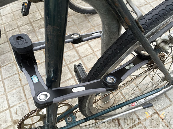 Abus Bordo Granit X Plus 6500 on bike
