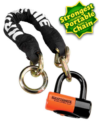 Kryptonite New York Noose 1275 strongest portable chain