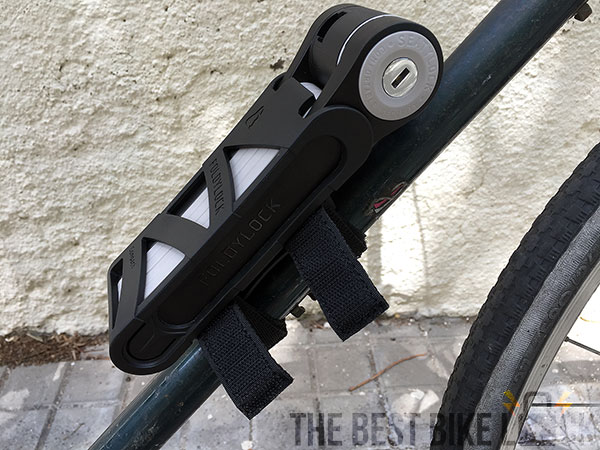 Foldylock Compact attached with Velcro straps