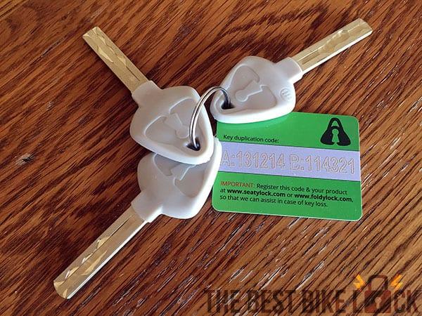 Foldylock keys