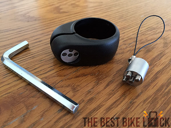 IXOW safering seatpost lock uses a special key