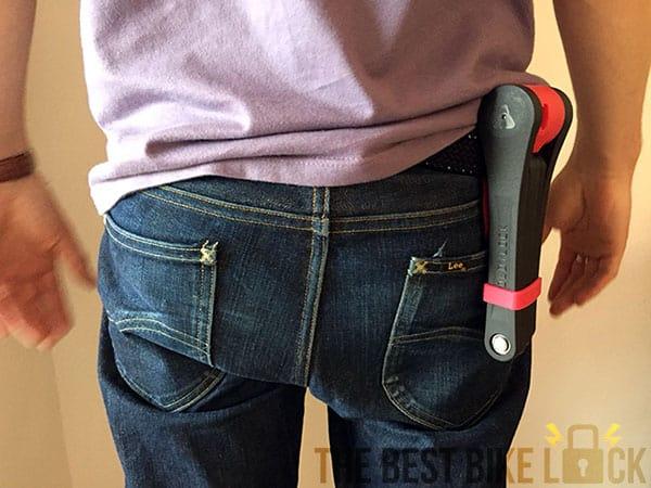 Foldylock Clipster on belt