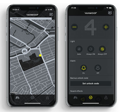 VanMoof Phone App