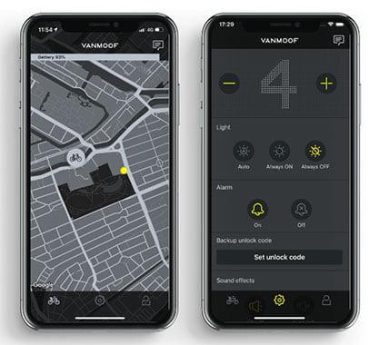 VanMoof Phone App