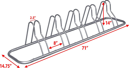 Simple Houseware rack measurements