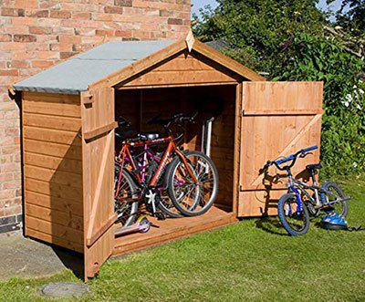 Bike shed in back garden