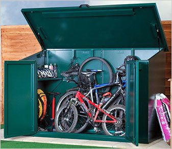 Metal bike shed