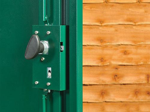 Metal shed lock