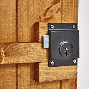 Power shed lock