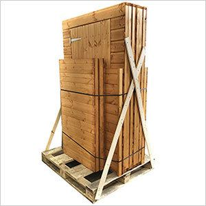 Power shed delivery pallet