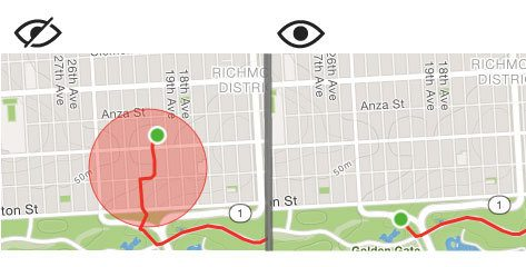A Strava privacy zone
