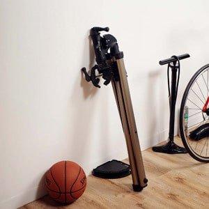 Folded bike repair stand