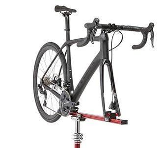Mounted bike repair stand