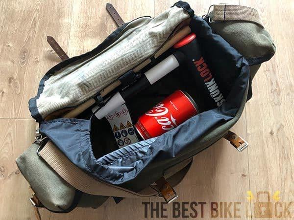SkunkLock in my saddle bag