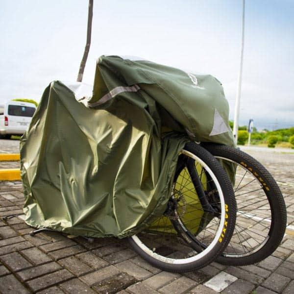 YardStash XL bike cover with 2 bikes