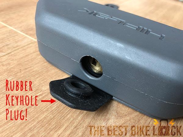 Rubber keyhole plug
