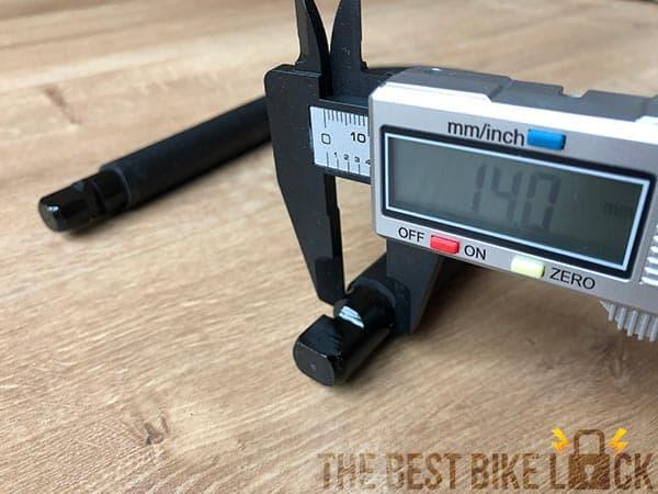 14 mm shackle on Hiplok DXC