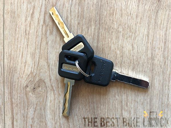 3 keys with the Hiplok