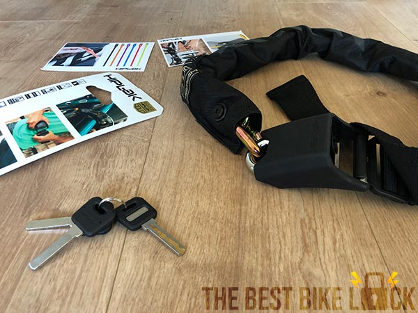 Unboxing the Hiplok Gold chain lock
