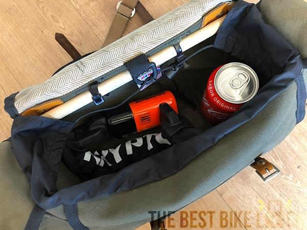 Kryptonite Evolution 1055 Mini in saddlebag