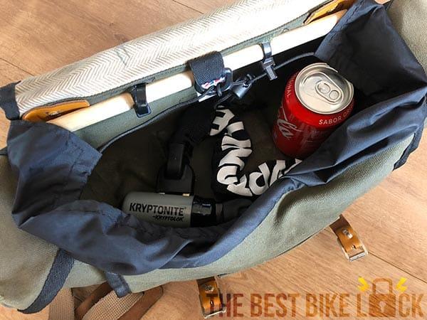 Kryptolok chain in my saddlebag