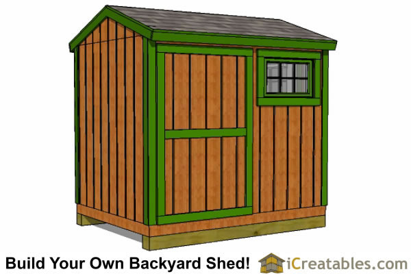 6 x 8 gable shed