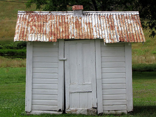 A DIY bike shed