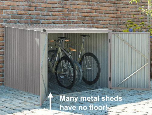Metal shed with no floor