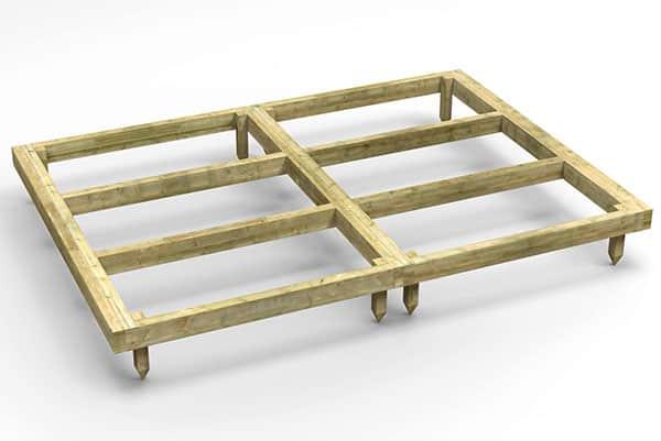 Wooden frame shed base