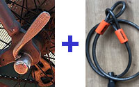 Quick release clamp plus cable