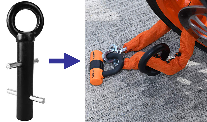 Sink into concrete ground anchor
