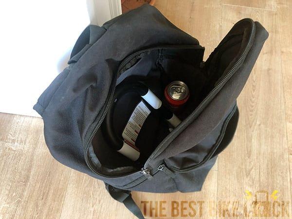 SkunkLock in backpack