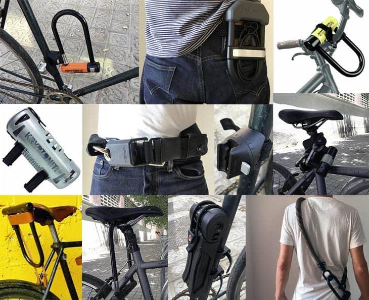 Where to put a bike lock when riding